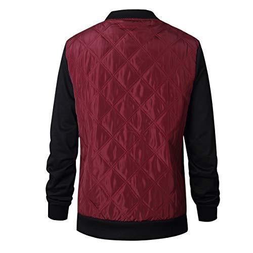 Moda Tops Autunno Primavera Onlyoustyle E Di Manica Coat Parka Giacca Casual Cotone Vino Rosso Donna Jacket Outerwear Cappotto Lunga a66qIwvZ