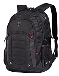"""Victoriatourist V6060 Laptop Backpack College Rucksack Business Bag with Laptop Tablet Compartments Fits MacBook Pro/Most 16"""" Laptops, Black"""