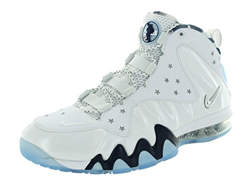 Nike Men's Barkley Posite Max Prm QS White/Metallic Silver/Mid Navy Basketball Shoe 10 Men US discount best sale free shipping outlet store sale how much rbHeEk1jB