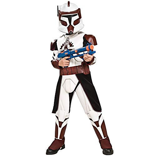 Rubies Star Wars Clone Wars Child's Clone Trooper Deluxe Commander Fox Costume and Mask, Medium