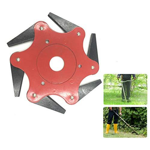 (ParadiseB Lawn Mower Grass Eater Trimmer Head-Brush Cutter Tool6 Steel Razors 65Mn)