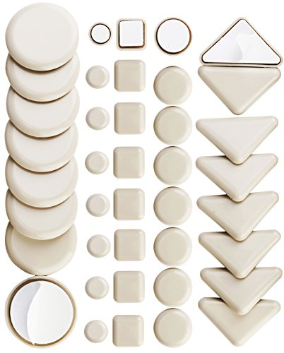 - 40 Pack Combo Self Stick Furniture Glider for Carpet Furniture Moving Slider Carpet Slider,Self-Adhesive Furniture Slider,Moving Pads Moving Furniture Sliders,Self Adhesive Sliders Furniture Glides