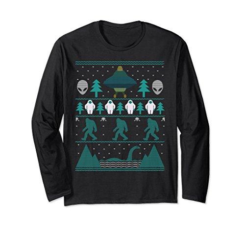 Bigfoot Aliens Yeti Ugly Christmas Sweatshirt