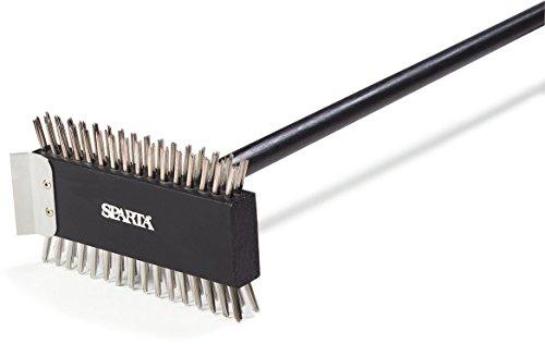Carlisle 4029000 Broiler Master Grill Brush, Stainless Steel Bristles, 30.5'' Length, Hardwood Brush and Handle, Black by Carlisle (Image #5)