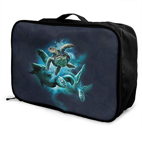 Portable Luggage Duffel Bag Sea Turtle Collage Travel Bags Carry-on In Trolley Handle