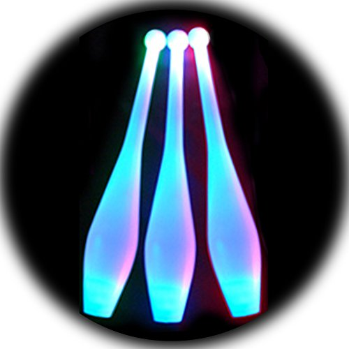 Blue LED Juggling Clubs (Set of 3) by Higgins Brothers (Image #1)