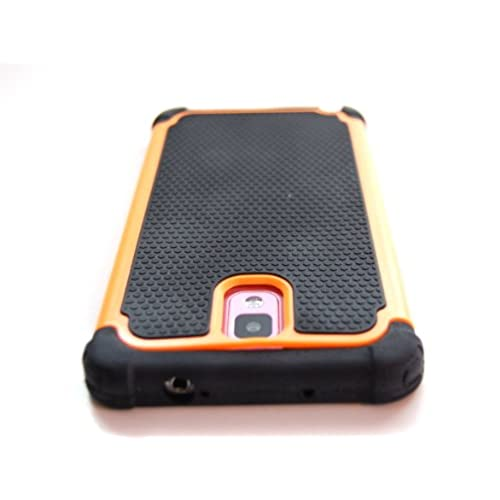 TCD for Samsung Galaxy NOTE 3 [ORANGE] Executive Armor Defender Series [HIGH IMPACT] Multi Layer [Hard/Soft Combo] TPU Hard Plastic Shock Absorbent Case SCREEN PROTECTOR STYLUS PEN free shipping