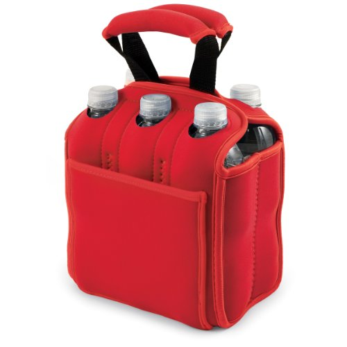 Pack Beverage Tote - ONIVA - a Picnic Time Brand Six Pack Insulated Beverage Tote, Red