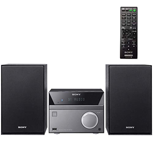 Sony Micro Hi-Fi 50W Stereo Sound System with Bluetooth Wireless Streaming NFC, CD Player, AM/FM Radio, Mega Boost, USB Playback & Charge, AUX Input, Remote Control