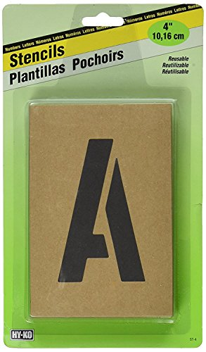 - Number & Letter Stencils Reusable, Water Resistant, 4 inch (2 Pack)