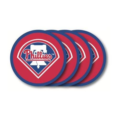 (MLB Philadelphia Phillies Vinyl Coaster Set (Pack of)
