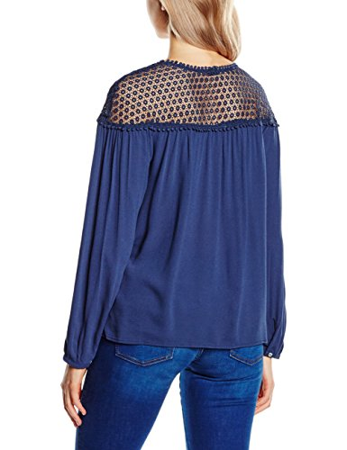Blouse Denim 5865 Blue kelspitzeinsatz Oliver H Mit Bleu Femme Night s gqHUx