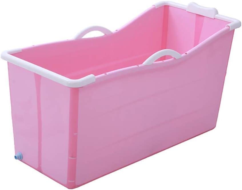 大人用浴槽ポータブル折りたたみ式浴槽、ベビー用浴槽、家庭用大型浴槽折りたたみシャワートレイ、快適な折りたたみ式大人用浴槽、2色(ピンク:色)