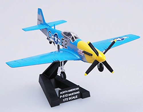 WWII US Aircraft 1/72 P51 Mustang Fighter Plane Non diecast Airplane Collection Easy Model Pre-builded