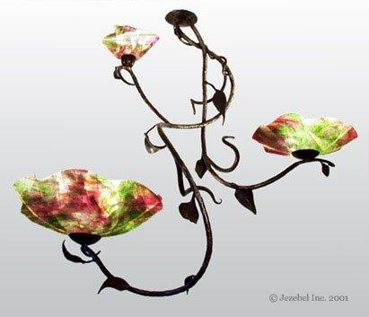 (Magnolia Branch 3 Blossom Chandelier, Tulip)