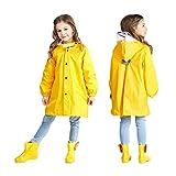 HZYBABY Kids School Backpack Lightweight Hooded Raincoat Rain Jacket Girls Portable Reusable Waterproof Rain Poncho