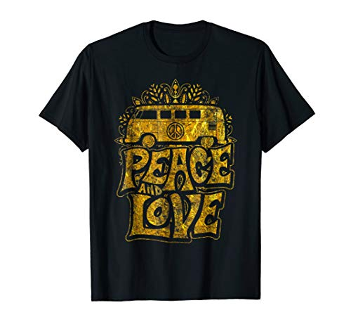 Peace and Love Hippie Van Shirt Retro