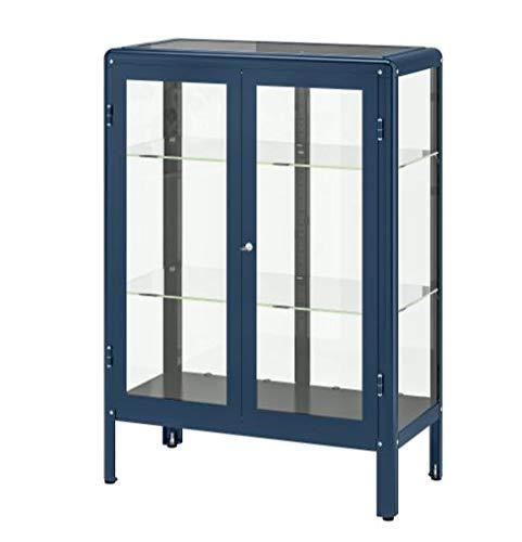 IKEA FABRIKÖR Glass-Door Cabinet, Blue Size 31 7/8x44 1/2