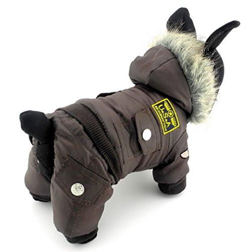 Pegasus Kleiner Hund Bekleidung für Mädchen Jungen Airman Fleece Winter Fell Schneeanzug mit Kapuze Overall wasserdicht