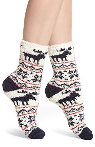 Pj Salvage Pattern Butter Crew Socks (White) ()
