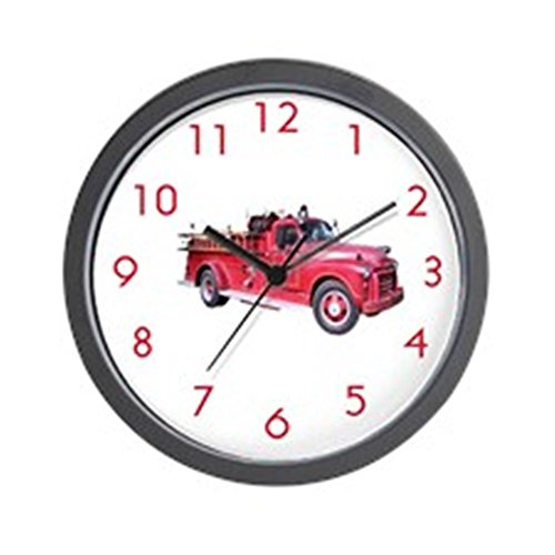 "CafePress - Firetruck Wall Clock - Unique Decorative 10"" Wall Clock"