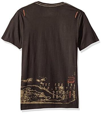 Buffalo David Bitton Men's Taold Short Sleeve Vneck Fashion Tee Shirt