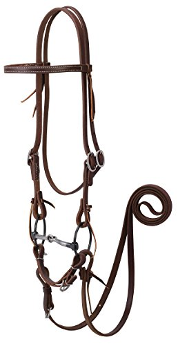 (Weaver Leather Working Tack Bridle with Ring Snaffle Mouth Bit)
