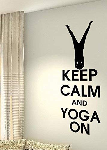 Amazon com: DECALANDSTICKER Keep Calm and Yoga On - Exercise