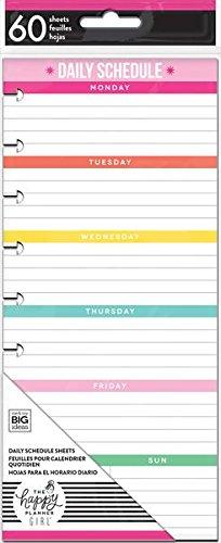 amazon com the happy planner girl classic medium daily schedule