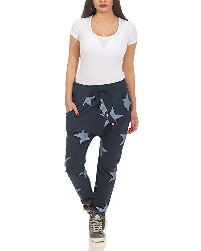 tuta larghi ragazzo pantaloni ZARMEXX di della Star d'avanguardia Big Blu pantaloni donne tuta di Fit della Loose pantaloni wH447Btq