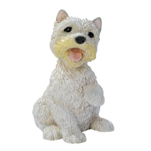 White Terrier Puppy Dog Statue Sculpture Figurine ()