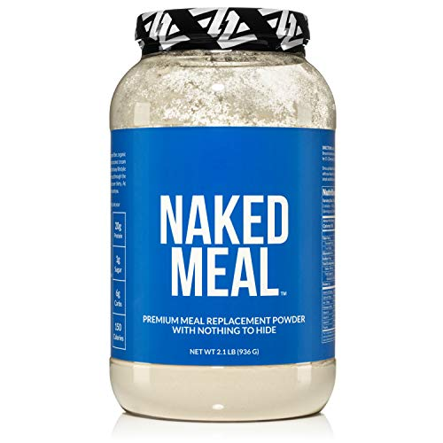 Naked Meal - Healthy Meal Replacement Shakes for Weight Loss or Workout Recovery - Low Carb, Keto Friendly, No Soy, GMO or Gluten - Pre & Probiotics for Gut Health - 2.1 LBS, 26 Servings (Best Rated Meal Replacement Shakes)