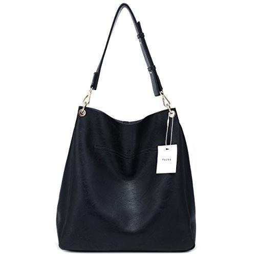 Hobo Tote Black Shoulder Purse Women's Leather Faux Bag Soft Ladies Handbags Pwq1gxt