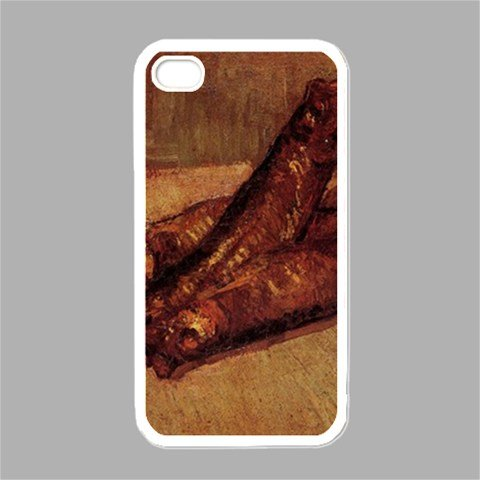 Still Life With Bloaters And Garlic By Vincent Van Gogh White Iphone 4 - Iphone 4s Case