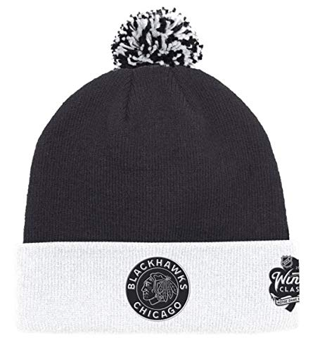 adidas Chicago Blackhawks 2019 Winter Classic Cuffed Pom Knit Hat