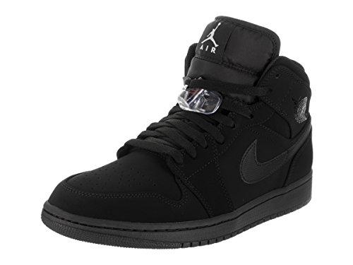 Jordan Nike Men's Air 1 Mid Black 554724-040 (Size: - Max Air Jordans