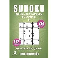 Sudoku Dünyanın En Sevilen Bulmacası 6; Kolay Orta Zor Çok Zor