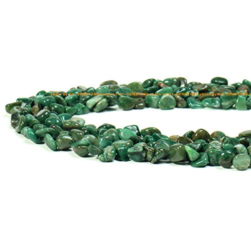 GY-GEMSTONE 100% Natural Stone Gemstone Irregular Nugget Chips Beads Semi 6-8mm Beads Crystal Energy Necklace Bracelet DIY Healing Power Stone for Jewelry Making 1 Strand 15