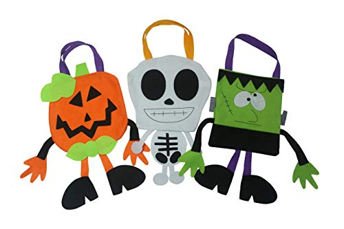 Halloween Trick or Treat Candy Bags. Pack of 3