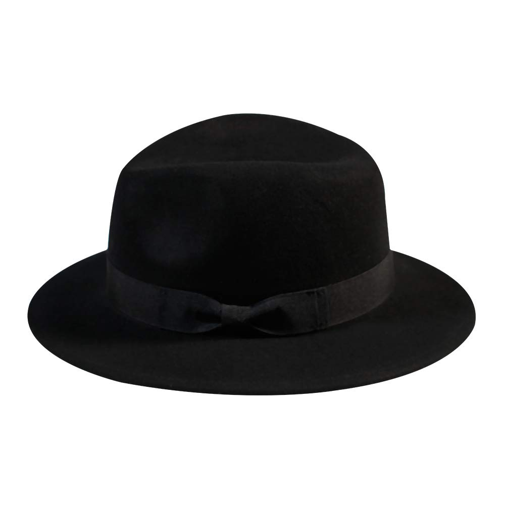 a2166e16482b6 ... Hat-Women s Felt Floppy Panama Hats Vintage Classic Ladies Wide Brim  Cap s New Year Gift Decoration(Black). Store Home Our Feedback Ask a  Question