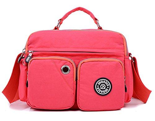 Tiny Chou leggera, impermeabile, con manico in Nylon compatto, borsa a tracolla, con tasche Pink