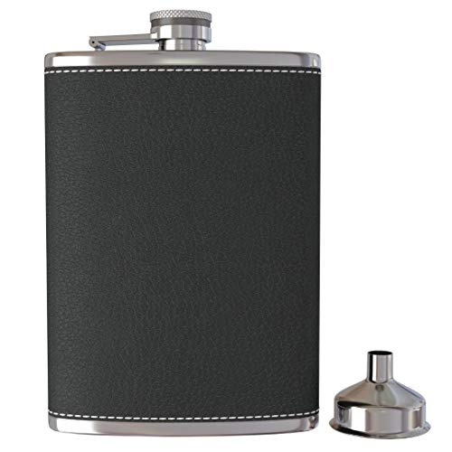 Whiskey Flask For Men Liquor Stainless Steel Hip Flask And Funnel 8 Oz