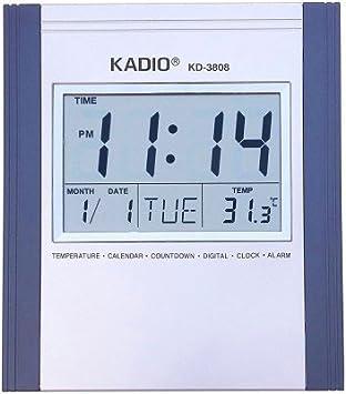 Yakeen rectangular reloj digital Kadio Kd 3808 (28 cm x 20 cm, color morado): Amazon.es: Hogar