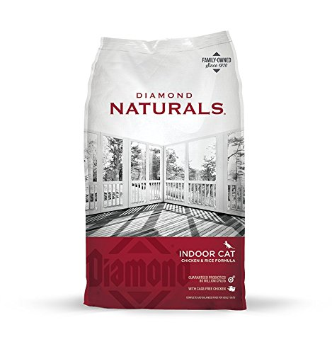 Diamond Naturals INDOOR Real Meat Recipe Natural Dry Cat Food with Real Cage Free Chicken Protein, 18lb