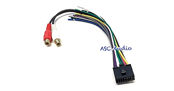XDMA7800 XDMA6630 X2DMA500 XDMA7600 XDMA7200 XML8150 ASC Car Stereo Speaker Power Wire Harness Plug for select Dual Audio 16 Pin w// Mic Input Radio- XDMA6415 XDMA6540