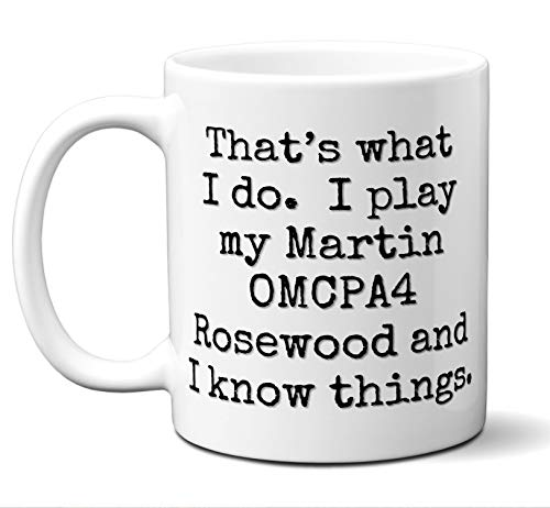 (Guitar Gift Mug. Martin OMCPA4 Rosewood Players Lover Accessories Music Teacher Lover Him Her Funny Dad Men Women Card Pick Musician Acoustic Unique. 11)
