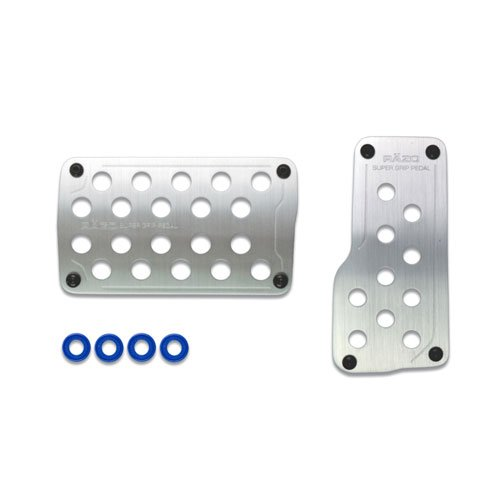 Razo RP121A Super Grip Small Silver Automatic Transmission Pedal Set - 2 Piece