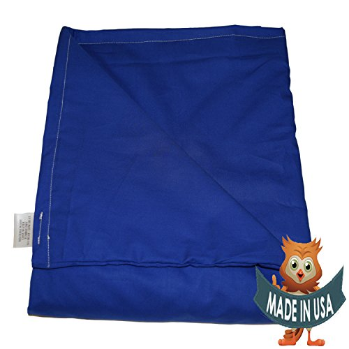 Child Small Weighted Blanket by Sensory Goods 7lb Heavy Pressure - Blue - 100% Organic (30'' x 48'') by SENSORY GOODS