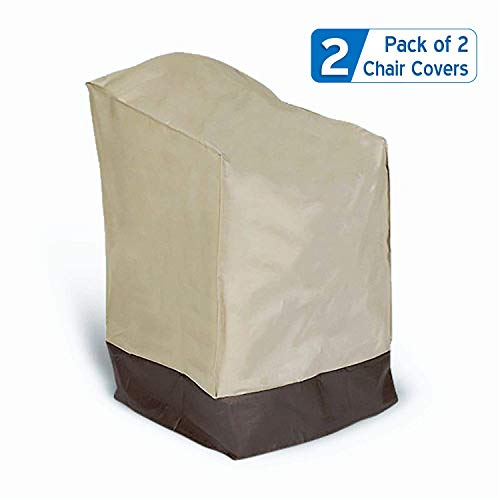 Prextex 2-Pack Classic Patio Lounge Chair Cover - 2 Patio Chair Covers