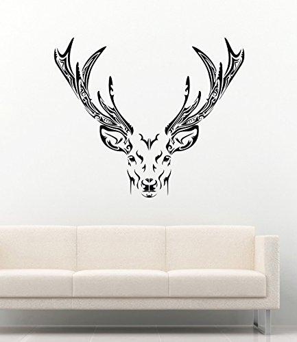 Awesome Animals Vinyl Wall Stickers Tribal Deer Horns Decals Vinyl Decor Murals MK2250